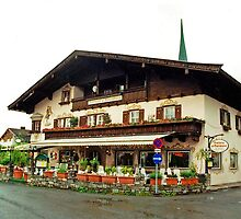 Trattoria at Kossen, Austria by Margaret  Hyde
