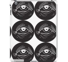 woodcut eye iPad Case/Skin