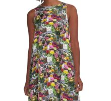 Spring Flowers 3 A-Line Dress