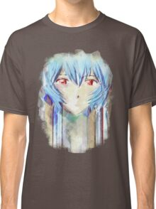 Ayanami Rei Evangelion Anime Tra Digital Painting  Classic T-Shirt