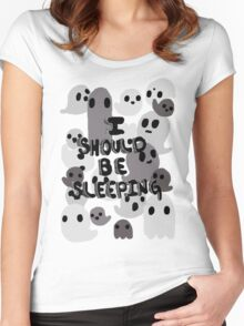 Sleeping Women's Fitted Scoop T-Shirt