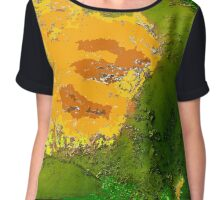 Physical Graphic Color Chiffon Top