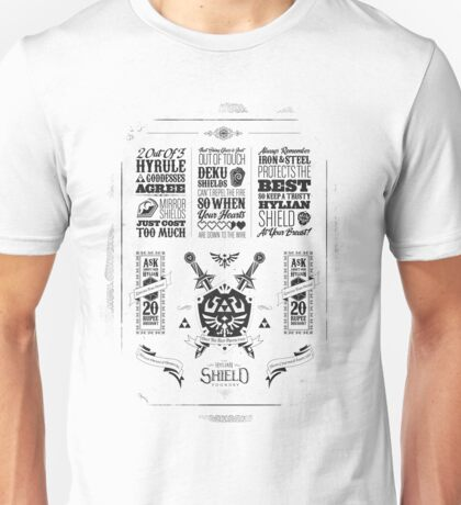 Legend of Zelda Hylian Shield Geek Line Artly Unisex T-Shirt