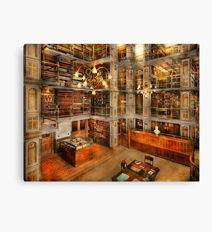 Library - A literary classic 1905 Canvas Print