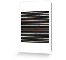 Elegant Chic Rose Gold Stripes and Black Greeting Card