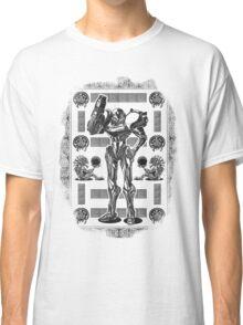 Metroid Samus Aran Geek Line Artly Classic T-Shirt