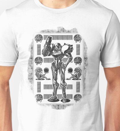Metroid Samus Aran Geek Line Artly Unisex T-Shirt