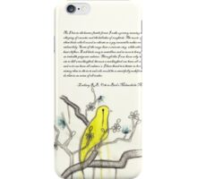 Ode to Bird's Melancholic Music (with original poem by Zackary Brownlee)  iPhone Case/Skin