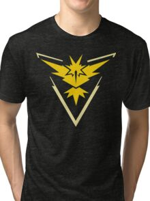 Pokemon Go | Team Instinct | Black Background | HUGE | New! | High Quality! Tri-blend T-Shirt