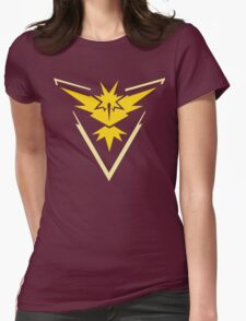 Pokemon Go | Team Instinct | Black Background | HUGE | New! | High Quality! Womens Fitted T-Shirt