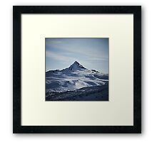 Snowy Mountain in Iceland Framed Print