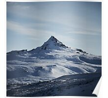 Snowy Mountain in Iceland Poster