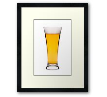 Beer in a glass, isolated, white background Framed Print