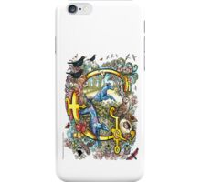 "The Illustrated Alphabet Capital  G  ""Getting personal"" iPhone Case/Skin"