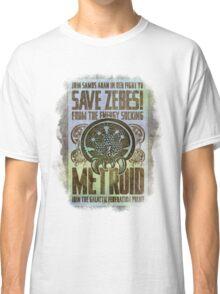 Metroid Propaganda Geek Line Artly  Classic T-Shirt
