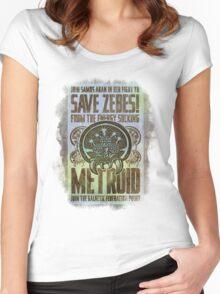 Metroid Propaganda Geek Line Artly  Women's Fitted Scoop T-Shirt