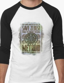 Metroid Propaganda Geek Line Artly  Men's Baseball ¾ T-Shirt