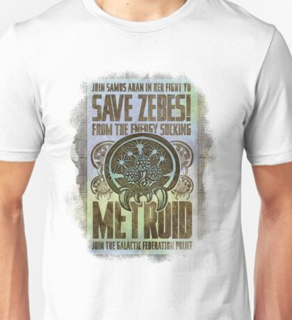 Metroid Propaganda Geek Line Artly  Unisex T-Shirt