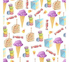 Junk Food Dessert Pattern Photographic Print