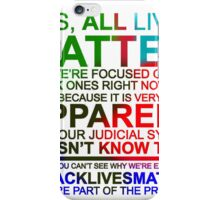 All Lives Matter T-shirt - Very Apparent  iPhone Case/Skin