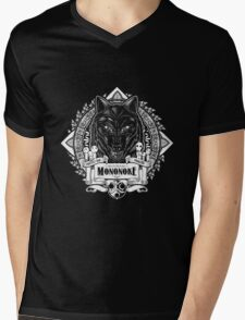 Pride of the Forest Wolf Mononoke Geek Line Artly Mens V-Neck T-Shirt