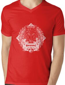 Pride of the Forest Wolf Mononoke Geek Line Artly Mens V-Neck T-Shirt