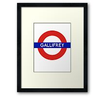 Fandom Tube- GALLIFREY Framed Print
