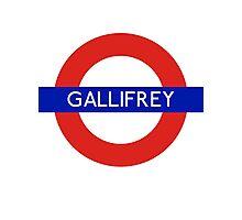 Fandom Tube- GALLIFREY Photographic Print