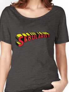 SECULARIST The real superhero! Women's Relaxed Fit T-Shirt