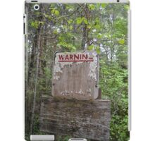 Warning Signs iPad Case/Skin