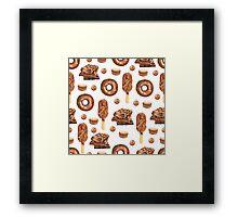 Chocolate Lovers Dessert Pattern Framed Print