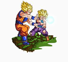 Super Saiyan 2 Gohan and Goku fires a Father-Son Kamehameha - Dragon Ball Z Unisex T-Shirt