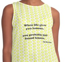 When life gives you lemons.. Contrast Tank