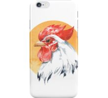 Rooster. Watercolor iPhone Case/Skin