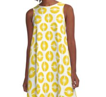 Poke-Dots Yellow A-Line Dress