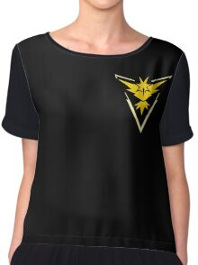 Pokemon Go | Team Instinct | Black Background | Small | New! | High Quality! Chiffon Top
