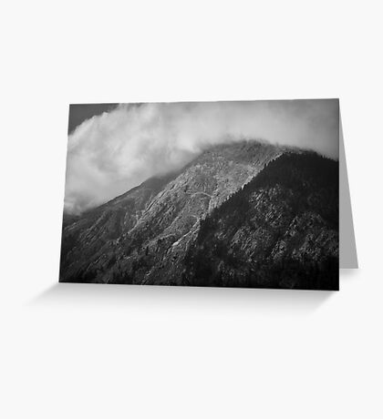 Clouds chasing over a mountain, Austria Greeting Card