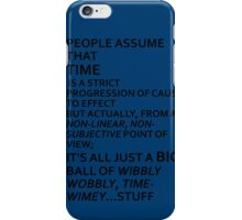 Wibbly Wobbly, Timey-Wimey....Stuff iPhone Case/Skin