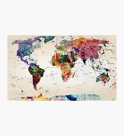 map Photographic Print