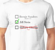 Sanders Supporters for Stein Unisex T-Shirt