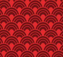 Red scales Sticker