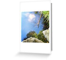 Reflection in a mountain stream Greeting Card