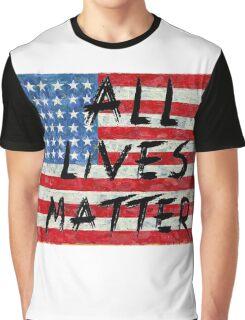 All lives Matter Flag T-shirt  Graphic T-Shirt