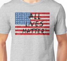 All lives Matter Flag T-shirt  Unisex T-Shirt