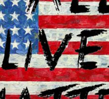All lives Matter Flag T-shirt  Sticker