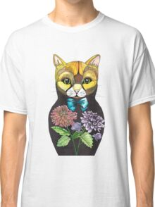 Dahlia, Tattoo style Russian doll cat Classic T-Shirt