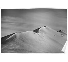 Snow dunes, Iceland Poster