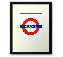 Fandom Tube- MORDOR Framed Print