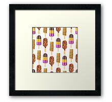 Frozen Sweets & Treats Popsicle Pattern Framed Print