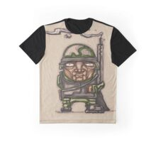 Soldier with his riffle illustration Graphic T-Shirt
